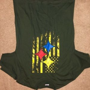 Army Green Pittsburgh Steelers American T-shirt